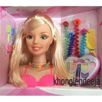 Khonglendee ชุด แต่งหน้า ทำผม ตุ๊กตา พร้อมอุปกรณ์