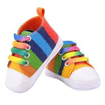 Bluelans เจ็ดสีรองเท้าผ้าใบของเด็กสาวทารก Prewalkers แอนตี้หลบรองเท้าเด็ก
