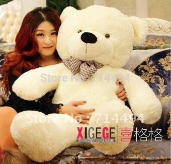 Harga 0.8m--Plush toys large size80cm / teddy bear 80cm/big embrace bear doll /lovers/christmas gifts birthday gift - intl