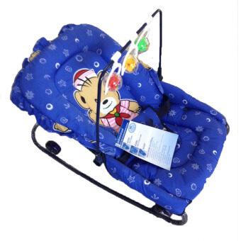 Baby Chamr เปลโยก ปรับระดับได้+ของเล่น ( สีน้ำเงิน )