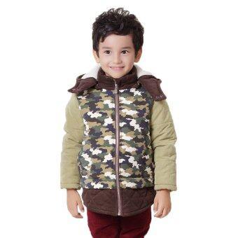Paradise Kidz แจ็คเก็ตเด็กผู้ชาย ลายทหาร พร้อม hood