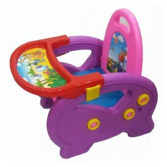 BabyCare เก้าอี้อเนกประสงค์สำหรับเด็ก รุ่น 3 in 1 ( สีชมพู/ม่วง/แดง )