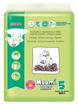 Muumi Baby ผ้าอ้อมเด็กสำเร็จรูป ชนิดเทป ไซส์ XL (10-16 kg.) บรรจุ 44 ชิ้น 1 ห่อ