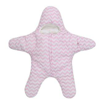 Harga PAlight Cute Starfish Baby Sleeping Bag Baby Blanket Swaddle (Pink)