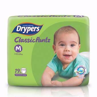 Drypers ผ้าอ้อมสำหรับเด็ก รุ่น Classicpantz M 19 ชิ้น