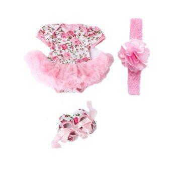 Cocotina เด็กแรกเกิดเด็กแต่งตัวชุดดอกไม้ติดรองเท้าแฟชั่นผู้ทำเสียงอึกทึกครึกโครม (สีชมพู)