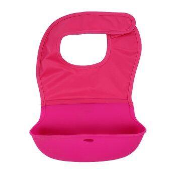 ซิลิโคนกันน้ำกันเปื้อนผ้าพันคอเด็ก (สีกุหลาบแดง)