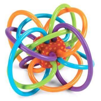 ยางกัด Manhattan Toy ยางกัดปลอดสารพิษเขย่ามีเสียง - หลากสี