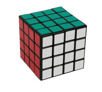 Leegoal Shengshou 4 x 4 ด้านติดสมองเล่น Rubik ลูกบาศก์ลูกบาศก์ปริศนา สีดำ