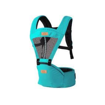 Carrier + Hip Seat Mengbadun เป้อุ้มเด็กแบบมีอานนั่ง สีเขียวน้ำทะเล