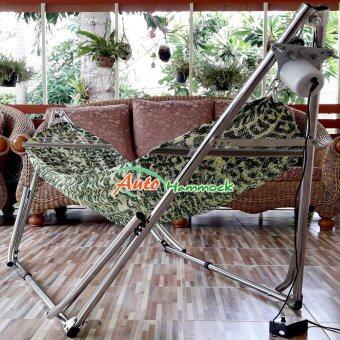 Auto Hammock เปลไกวเด็กอัตโนมัติแบบเปลญวนใหญ่ เขียว(hammock)