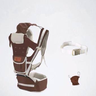 กาแฟ สุทธิ ระบายอากาศได้ 10 ใน 1 มัลติฟังก์ชั่ ผู้ให้บริการทารก Baby Carrier เอว เข็มขัด with เอว ม้านั่ง - intl