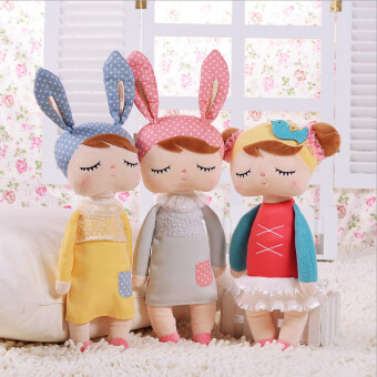 Harga 34cm Angela rabbit dolls Metoo baby plush toy doll lovely stuffed toys Dolls for kids girls Birthday/Christmas Gift