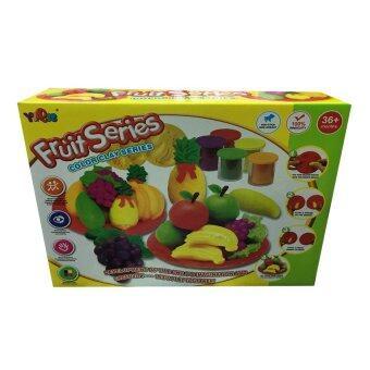 Khonglendee ชุดแป้งโดว์ทำผลไม้ พร้อมแป้งโดว์ 5 สี + แม่พิมพ์