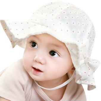 เด็กสาวหน้าร้อนกลางแจ้งหมวก (ขาว)