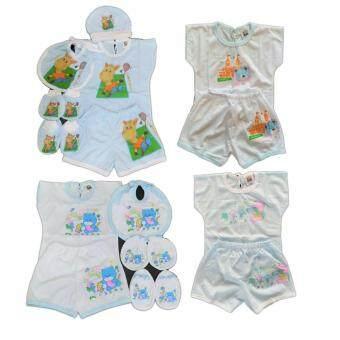 BABYKIDS95 ชุดเด็กอ่อน แรกเกิด-6 เดือน ผ้ายืดนิ่ม 4ชุด รวม 19 ชิ้น (cc-040)
