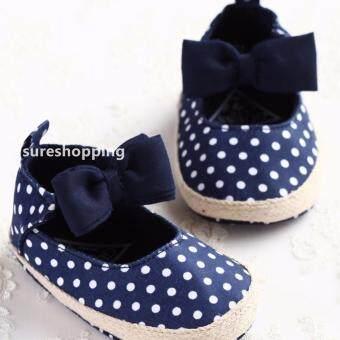 รองเท้าหัดเดิน รองเท้าเด็กอ่อน รองเท้าเด็กพื้นผ้า baby shoe Prewalker ของใช้เด็กอ่อน รองเท้าทารก รองเท้าเด็กเล็ก สีกรม