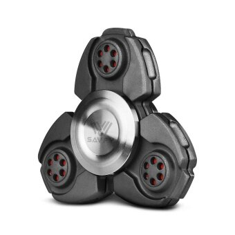 Fidget Spinner, เครื่องปั่นมือโลหะ Fidget Gyro Toy สำหรับ EDC Focus Meditation Break Bad Habits ADHD (Black) - intl