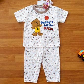 Baby Elegance ไซส์ 2 (6-12 เดือน) ชุดนอน เด็กผู้ชาย เซ็ต 2 ชิ้น เสื้อแขนสั้นลายลูกหมีเล่นบาส กางเกงขายาว
