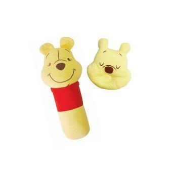 GRACE KIDS หมอนหลุม + หมอนข้างผ้ายืด Pooh (สีเหลือง)