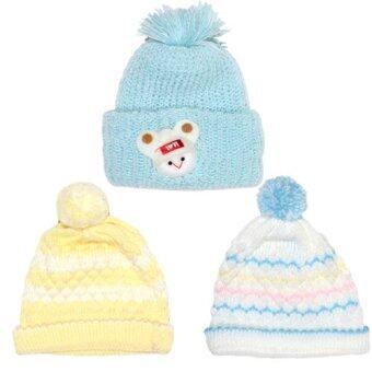 P&Kชุดเด็กแรกเกิด หมวกน้อยหน่าเหลือง หมวกรุ้งฟ้า หมวกการ์ตูนฟ้า สำหรับเด็กแรกเกิด- 3เดือน