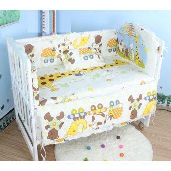 Baby Bed เตียงไม้เด็กสีขาว รุ่นอเนกประสงค์ 3 in 1 ลายสัตว์หรรษา ยีราฟ Happy Travel (สีขาว)
