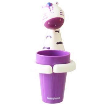 Baby Mamy ถ้วยเก็บแปรงฟันพร้อมที่ติดผนังแสนน่ารัก ลาย Zebra