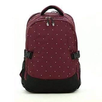 กระเป๋าเป้สะพายหลังสำหรับคุณแม่ กระเป๋าใส่ผ้าอ้อม ขวดนม ของใช้เด็ก กันน้ำ รุ่น DN083 สีเลือดหมู