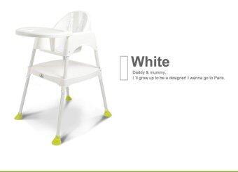 BabaMama เก้าอี้ทานข้าวสำหรับเด็กทรงสูง รุ่น 8850 สีขาว
