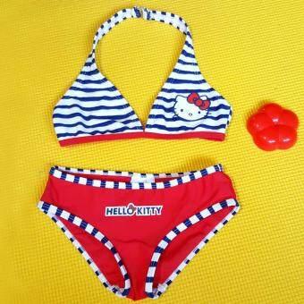 ชุดว่ายน้ำเด็กหญิงทูพีช ลายการ์ตูนน่ารัก