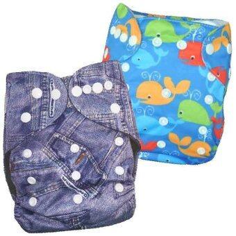 BABYKIDS95 กางเกงผ้าอ้อมกันน้ำ รุ่นดีลักส์ ไซส์เด็ก 3-16กก. เซ็ท 2ตัว แบบที่ 72