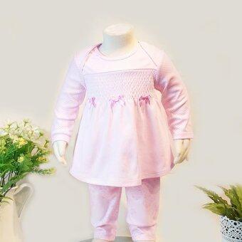 le top baby Pajama ชุดนอนเด็กแรกเกิด ลายแกะ สีชมพู Size 0/3M