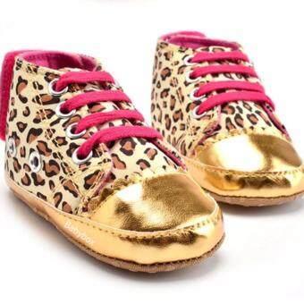 รองเท้าเด็กเล็ก รองเท้าเด็กหัดเดิน รองเท้าเด็กอ่อน รองเท้าเด็กพื้นผ้าทรงหุ้มข้อลายเสือ