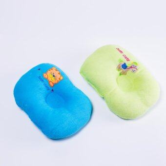 Babi care หมอนหลุม ผ้าขนหนูปัก ( แพ็ค 2 ) คละลาย คละสี