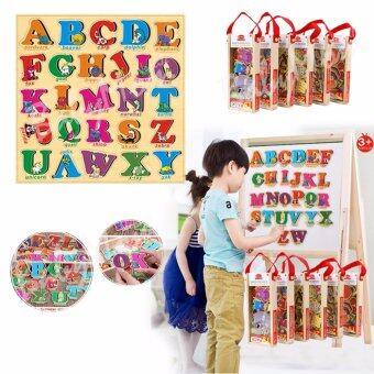 แม่เหล็กเสริมการเรียนรู้ ตัวอักษร ABC สีสันสดใส พร้อมคำศัทพ์ภาษาอังกฤษ