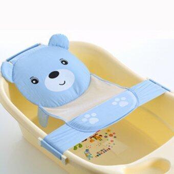 อาบน้ำเด็กอ่อนเด็กแอบดื้อจานฝักบัวชั้นสายสะพาย (สีน้ำเงิน)