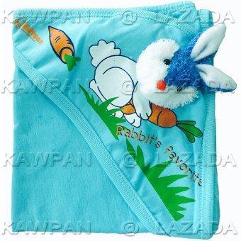 Attoon ผ้าห่อตัวเด็ก ผ้า cotton รูปกระต่าย - สีฟ้า