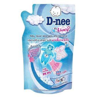 D-nee น้ำยาซักผ้าเด็ก ไลฟ์ลี่ แอนตี้แบคทีเรีย ชนิดเติม ขนาด 600 มล. (แพ็ค 3)