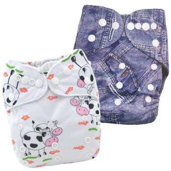 BABYKIDS95 กางเกงผ้าอ้อมกันน้ำ รุ่นดีลักส์ ไซส์เด็ก 3-16กก. เซ็ท 2ตัว แบบที่ 74