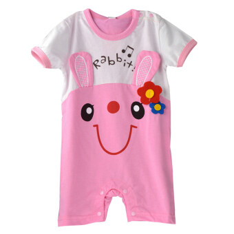 Harga New Fashion Short Sleeve Baby Jumpers with Lovely Cartoon Patterns-rabbit