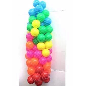Ruklook บอล 100 ลูก ปลอดสารพิษ เนื้อหนา ขนาด 3 นิ้ว (คละสี)