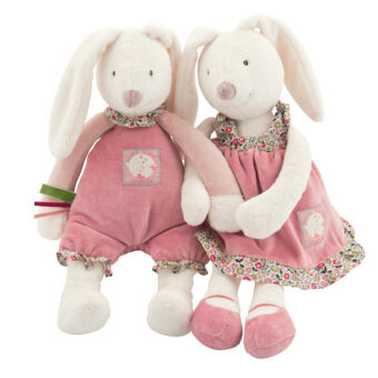 Harga Hot New Cute 33cm Rabbit With Skirts & Trousers Plush Toys Baby Kids Rabbit Sleeping Comfort Bunny Soft Stuffed Animal Doll Gift - intl