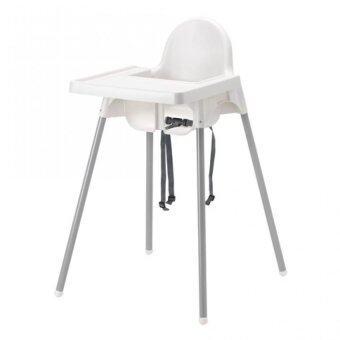 เก้าอี้เด็กสูงพร้อมถาดวางอาหารและเข็มขัดนิรภัย ขนาด 58x62x90 ซม.