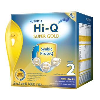 Hi-Q ไฮคิว นมผง ซูเปอร์โกลด์ 2 SYNBIO PROTEQ รสจืด 1800 กรัม