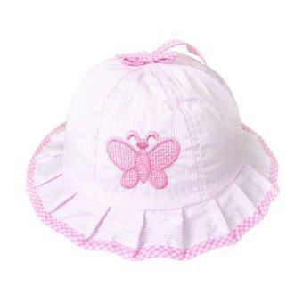Cocotina ผีเสื้อลายตะวันถักหมวกสีชมพู