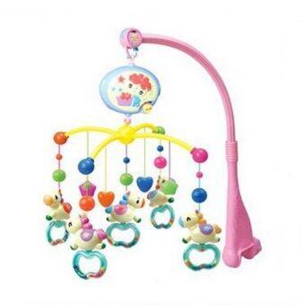 baby_kidsonline โมบายดนตรีเด็กแบบใส่ถ่าน รูปม้าบิน - ก้านชมพู