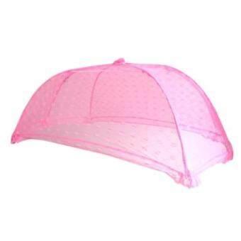 มุ้ง ครอบ ทารก ราคาโรงงาน (ขนาด M ) ยาว115cm กว้าง60cm สูง40 cm ใช้กันยุงและแมลงต่าง ๆ(Pink)