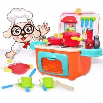 ชุดครัวทำอาหาร ชุดจำลองเครื่องใช้ในครัวปรุงอาหาร Playsets ห้องครัว ของเล่นเสริมพัฒนาการ บทบาทสมมุติ ส่งเสริมการพัฒนาสมอง (หลากสี)