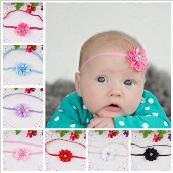 Harga 10pcs Kids Baby Girls Toddler Flower Headband Band Hairband Soft Elastic Hair Band Headwear Accessories - intl