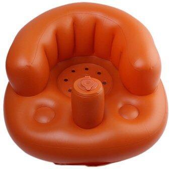 เก้าอี้โซฟาเด็กหญ้าคาหนาทึบแบบพกพายางอาบน้ำนั่งรักษา (แชมเปญ) (image 0)